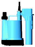 Aquaplus SDG Series Plastic Submersible Dewatering Bottomer Pump with Manual / Auto Switch 240V 0.1kW